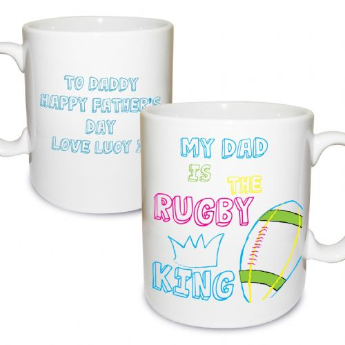 Personalised Rugby King Mug